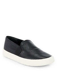 Zapatillas slip on negras y blancas original 9767569