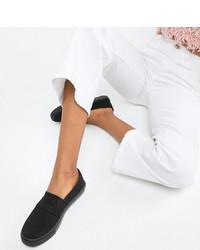 Zapatillas slip-on negras de ASOS DESIGN