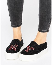 Zapatillas slip-on negras de Asos