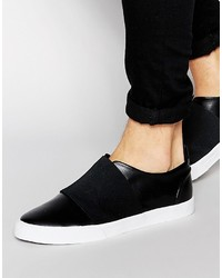 Zapatillas slip-on negras de Asos