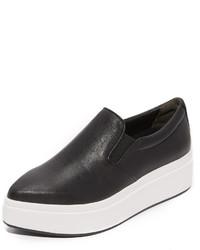 Zapatillas slip-on negras de DKNY