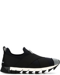 Zapatillas Slip-on Negras de Dolce & Gabbana