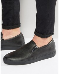 Zapatillas slip-on negras de Hugo Boss