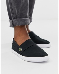 Zapatillas slip-on negras de Lacoste