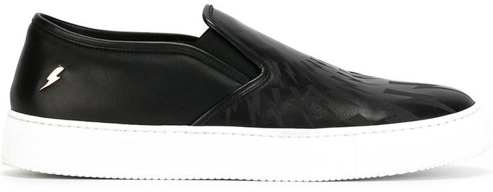 Zapatillas slip-on negras de Neil Barrett