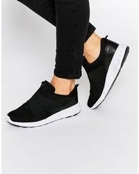 Zapatillas slip-on negras de Pieces