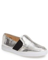 Zapatillas slip on plateadas original 9766129