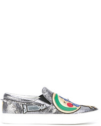 Zapatillas slip-on plateadas de Marc Jacobs