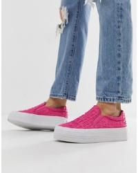Zapatillas slip-on rosa de Juicy Couture