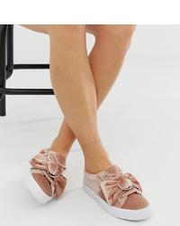 Zapatillas slip-on rosadas de ASOS DESIGN