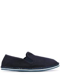 Zapatillas slip-on vaqueras azul marino de Tommy Hilfiger