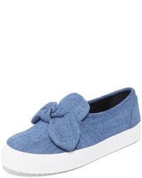 Zapatillas slip-on vaqueras azules de Rebecca Minkoff
