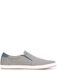 Zapatillas slip-on vaqueras grises de Tommy Hilfiger