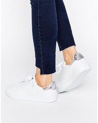 Zapatillas vaqueras blancas de Missguided