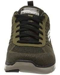 Zapatillas verde oliva de Skechers