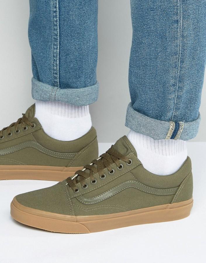 Zapatillas verde oliva de Vans, €51 | Asos | Lookastic España