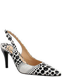 Zapatos a Lunares Blancos