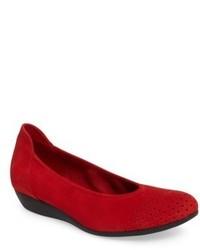 Zapatos bajos rojos