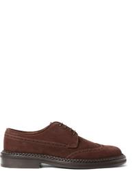 Zapatos brogue de ante en marrón oscuro de Etro