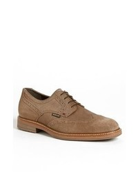 Zapatos brogue de ante marrón claro