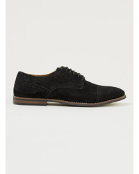 Zapatos brogue de ante negros