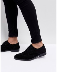 Zapatos brogue de ante negros de ASOS DESIGN