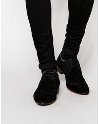 Zapatos brogue de ante negros de Asos