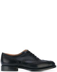 Zapatos brogue de cuero azul marino de Church's