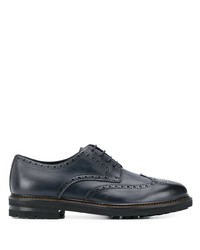 Zapatos brogue de cuero azul marino de Henderson Baracco