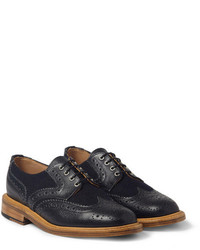 Zapatos brogue de cuero azul marino de Mark McNairy