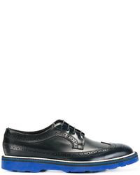 Zapatos brogue de cuero azul marino de Paul Smith