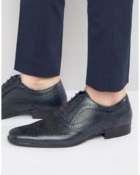 Zapatos brogue de cuero azul marino de Red Tape