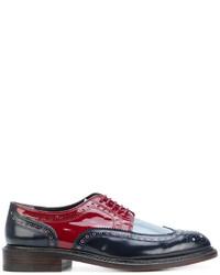 Zapatos brogue de cuero azul marino de Robert Clergerie