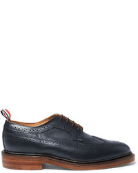 Zapatos brogue de cuero azul marino de Thom Browne
