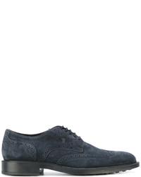 Zapatos brogue de cuero azul marino de Tod's