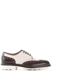 Zapatos Brogue de Cuero Blancos y Marrónes