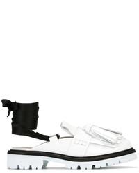 Zapatos Brogue de Cuero Blancos de MSGM