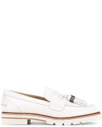 Zapatos brogue de cuero blancos de Stuart Weitzman