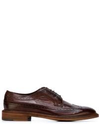 Zapatos brogue de cuero burdeos de Paul Smith