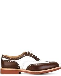 Zapatos brogue de cuero en blanco y marrón de Church's