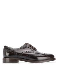 Zapatos brogue de cuero en marrón oscuro de Berwick Shoes