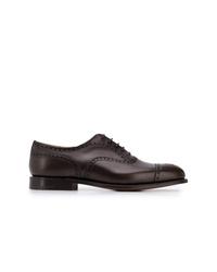 Zapatos brogue de cuero en marrón oscuro de Church's
