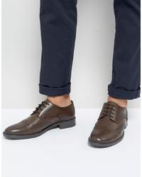 Zapatos brogue de cuero en marrón oscuro de Frank Wright
