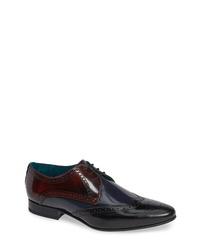 Zapatos brogue de cuero en multicolor