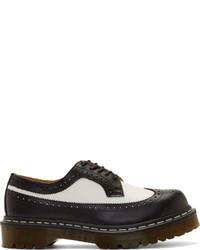 Zapatos brogue de cuero en negro y blanco