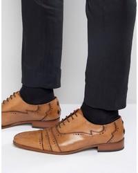Zapatos brogue de cuero marrón claro de Jeffery West