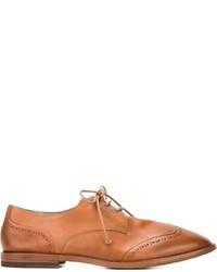 Zapatos brogue de cuero marrón claro de Marsèll