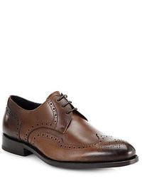 Zapatos Brogue de Cuero Marrón Oscuro