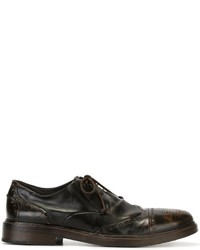Zapatos Brogue de Cuero Marrón Oscuro de Marsèll