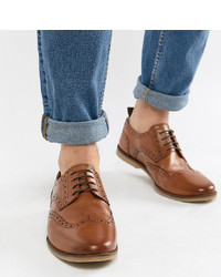 Zapatos brogue de cuero marrónes de ASOS DESIGN